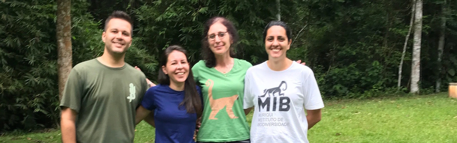 Dr Strier and students in the field in Brazil